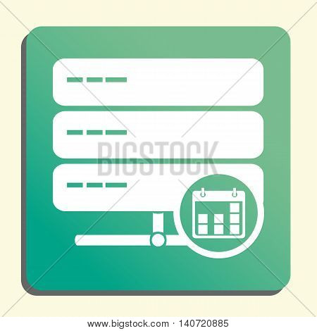 Server Date Icon In Vector Format. Premium Quality Server Date Symbol. Web Graphic Server Date Sign