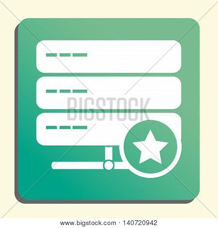 Server Star Icon In Vector Format. Premium Quality Server Star Symbol. Web Graphic Server Star Sign