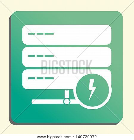 Server Flash Icon In Vector Format. Premium Quality Server Flash Symbol. Web Graphic Server Flash Si