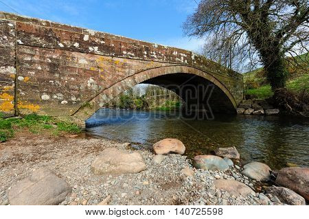 Bridge over River Ehen at Egremont Cumbria