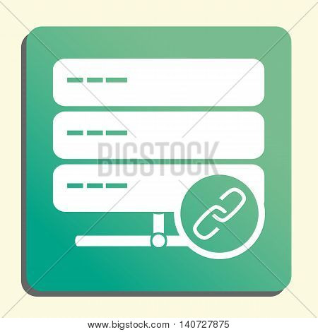 Server Link Icon In Vector Format. Premium Quality Server Link Symbol. Web Graphic Server Link Sign