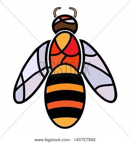 abstract image of bee consisting of lines