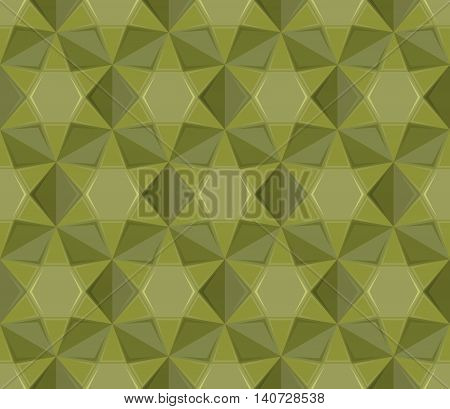 Army Seamless Pattern. Geometric Military Texture. Soldier Camouflage Ornament. Khaki Green Backgrou