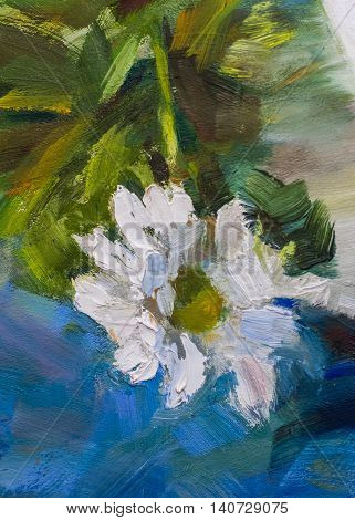Painting Still Life Oil Painting Texture, Impressionism Art,