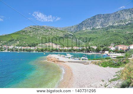 Village of Drvenik at Makarska Riviera near Brela,adriatic Sea,Dalmatia,Croatia