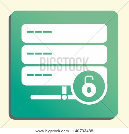 Server Open Icon In Vector Format. Premium Quality Server Open Symbol. Web Graphic Server Open Sign