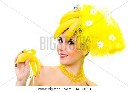 Smiling Banana Lady