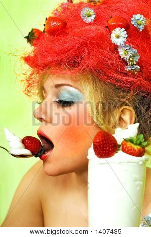 Glamour Strawberry Girl