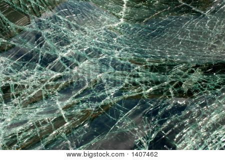 Smashed Car Windscreen