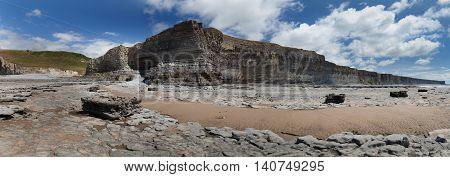 The Monknash Coast, also known as the Heritage Coast in the Vale of Glamorgan in South Wales.
