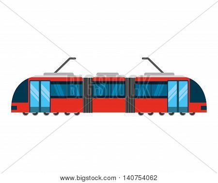 tram transport public service icon vector illustration design