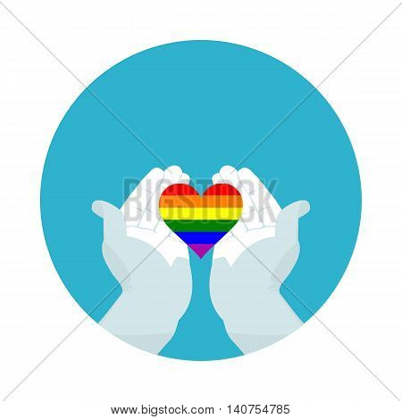 flat icon heart of LGBT in vector format eps10