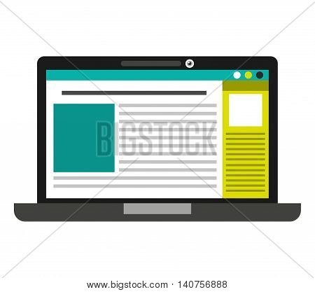 laptop computer portable icon vector isolated graphic vector isolated design