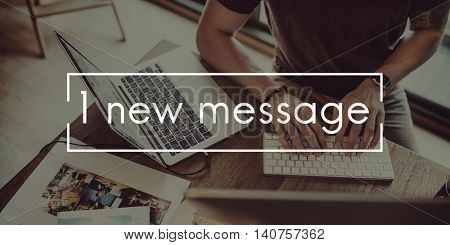New Message Information News Communication Concept