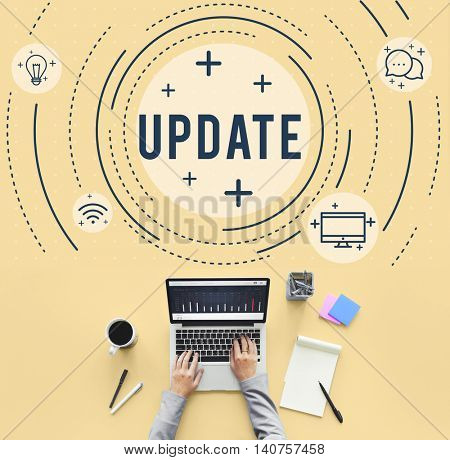 Web Sync Trend Updte Networking Concept