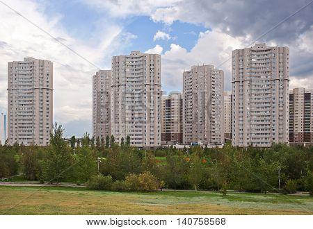 Modern luxury residential complex in Astana. Kazakhstan