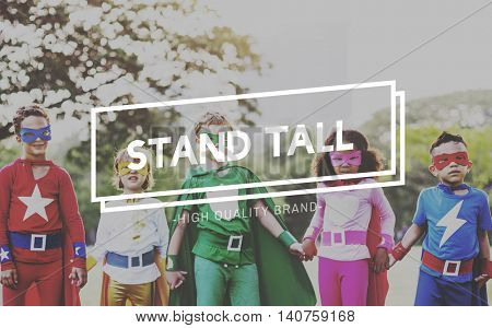 Stand Tall Pride Proud Confident Walk Tall Concept