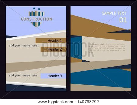 Logo And Identification Of A Construction Company. Unfinished Building, Shield