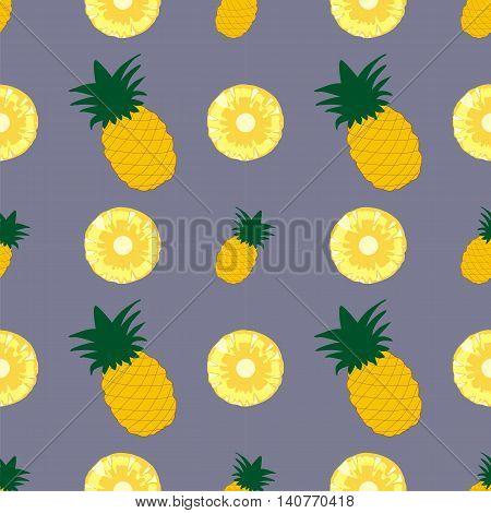 Tropical juicy background. Pineapple vector background. Pineapple vector seamless pattern. Fresh design for printing on fabric packaging paper bags clothes. menu. Pineapple vector background. Juice menu fresh menuwallpaper.