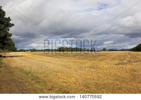 Stubble Field In Yorkshire