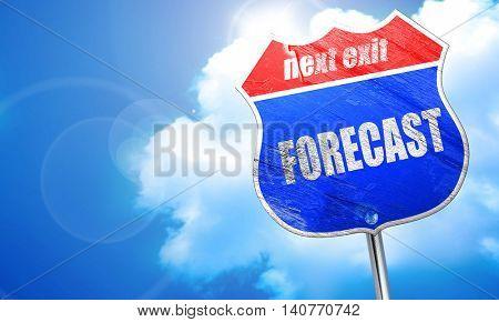 forecast, 3D rendering, blue street sign