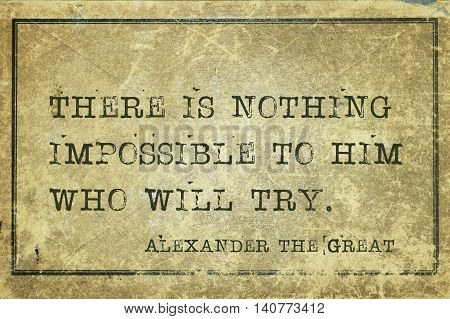 Impossible Alexander The Great