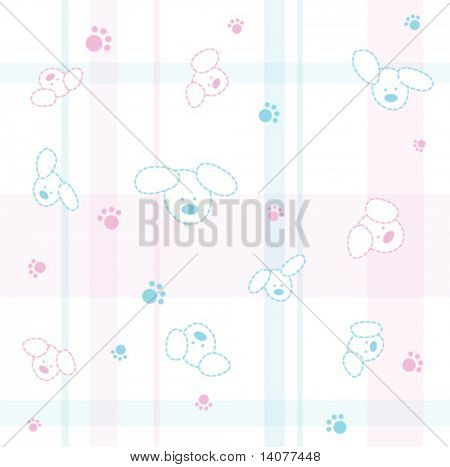 Cute seamless baby pattern with dogs