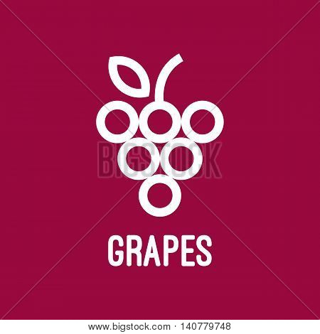 Abstract grapes logo template. Grapes icon. Abstract grapes on a purple background