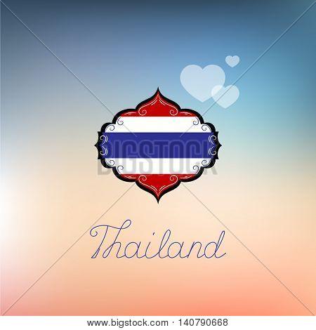flag of Thailand. Vector element for design.