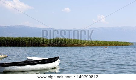 picture of a Ohrid lake in summer. Macedonia