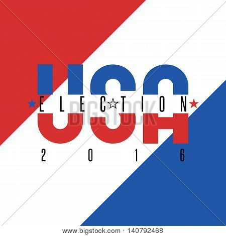 Usa Presidential Election 2016 Poster Colors American Flag, Political Party Voice Of The Electorate