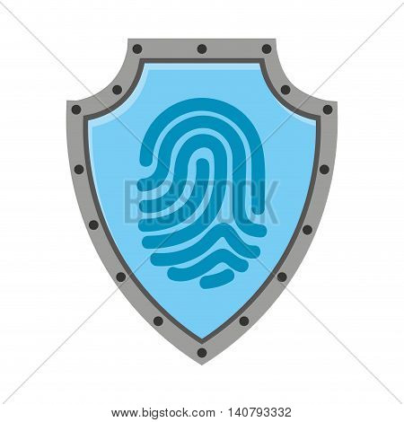 fingerprint access human icon vector isolated design