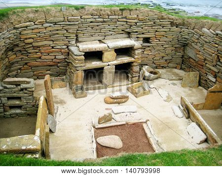 Neolithic house from Skara Brae (Orkney islands, Scotland, UK)