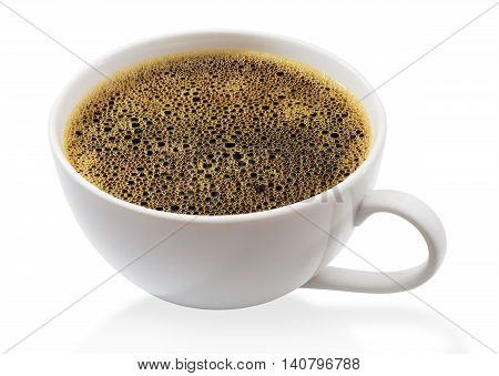Coffee cup isolated on a white background with clipping path