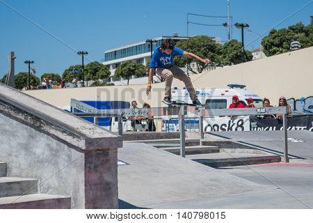 Jose Sousa During The Dc Skate Challenge