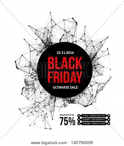 Black friday sale. Vector illustration on white background