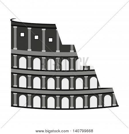 coliseum rome italy icon vector illustration design
