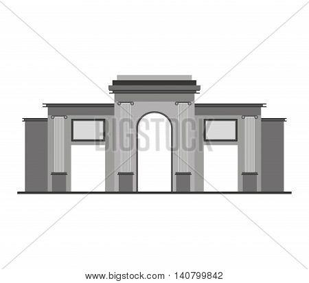 spain portal building icon vector illustration design