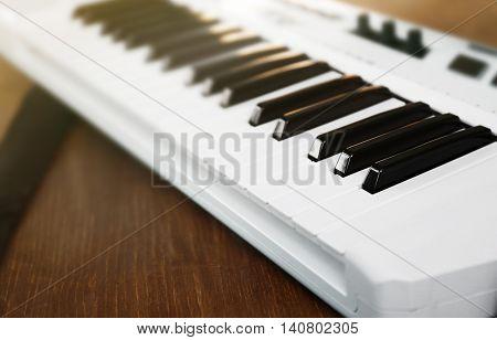 Synthesizer closeup
