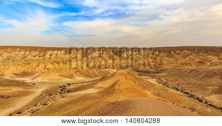 Mountains in a Negev desert in Israel