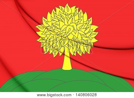 Flag Of Lipetsk Oblast, Russia. 3D Illustration.