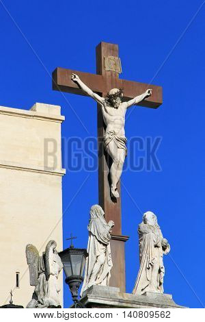 Crucifix in The Popes' Palace in Avignon France