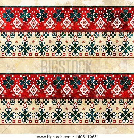 Ethnic boho grunge old pattern. Tribal art print. Colorful vintage background