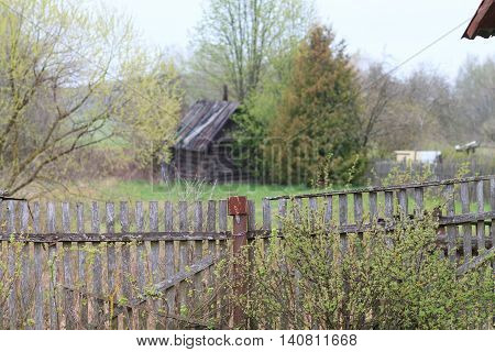village old fence fence, old , nature, house