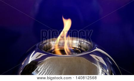 Open Flame at Small Alcohol Burner Orb