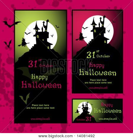 Halloween invitations, web banners