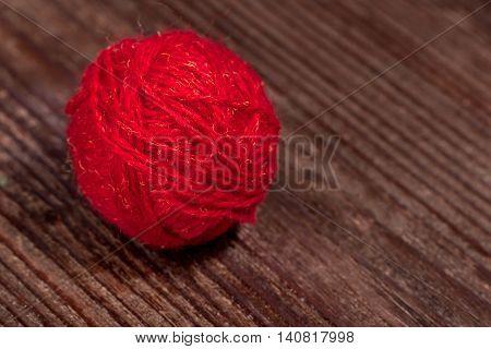 Ball Of Wool Closeup