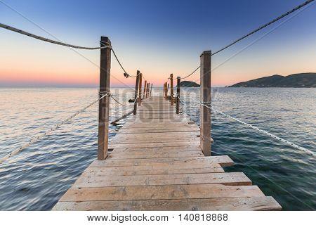 Sunset at Ionian sea on Zakhynthos island, Greece