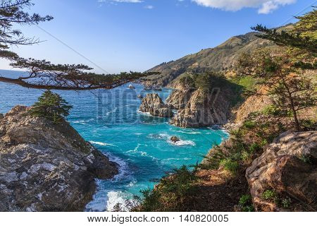the scenic rugged coastline near big sur california