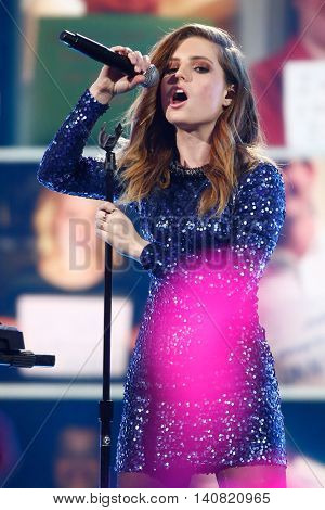 NEW  YORK-NOV 13: Sydney Sierota of Echosmith performs at VH1's 'You Oughta Know Concert' in New York City.  Anthony Criss, better known by his stage name Treach, is an American rapper and actor